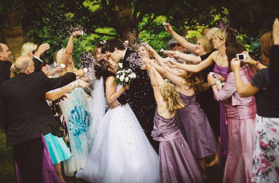 confetti at north east wedding