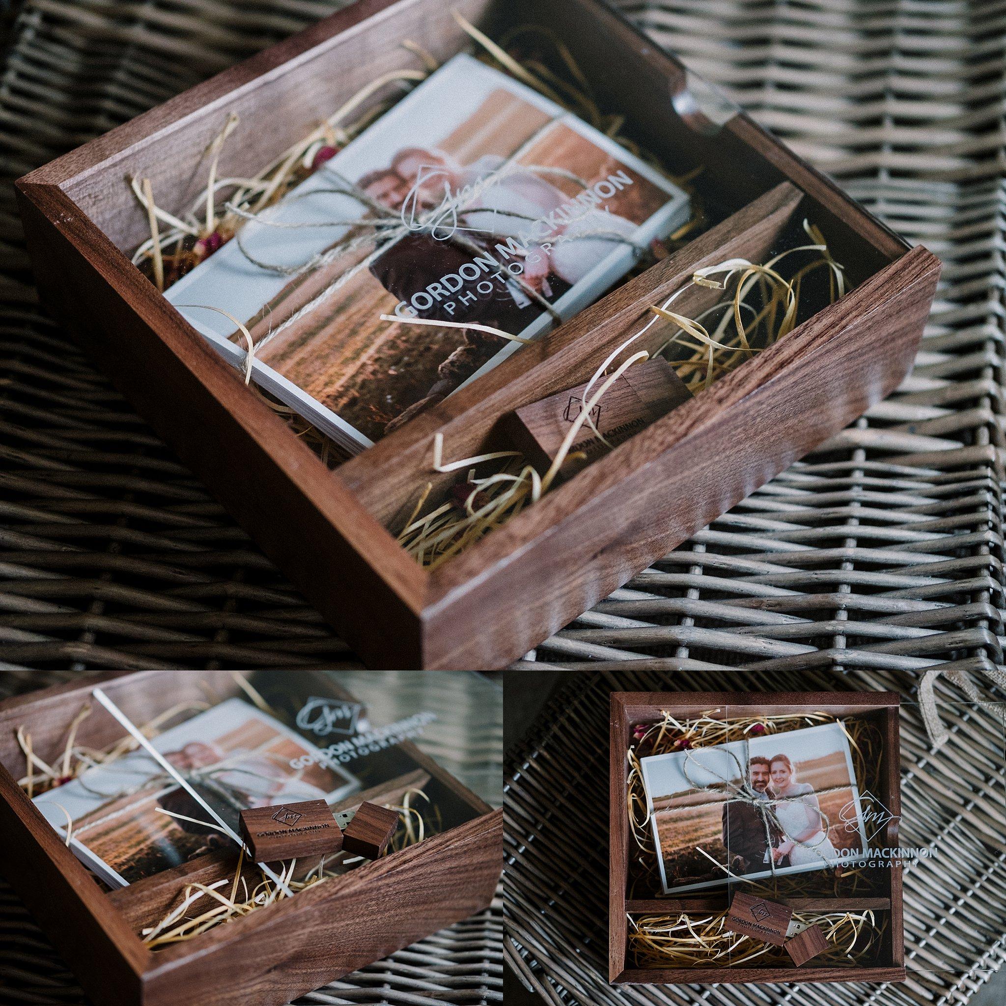 handmade wedding photo presentation box